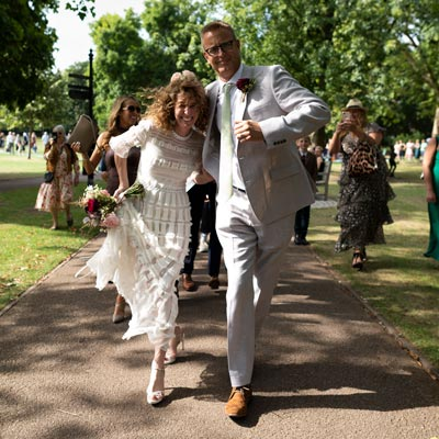 Wedding Photographer for Kitty and Will at Queens Park in London.
