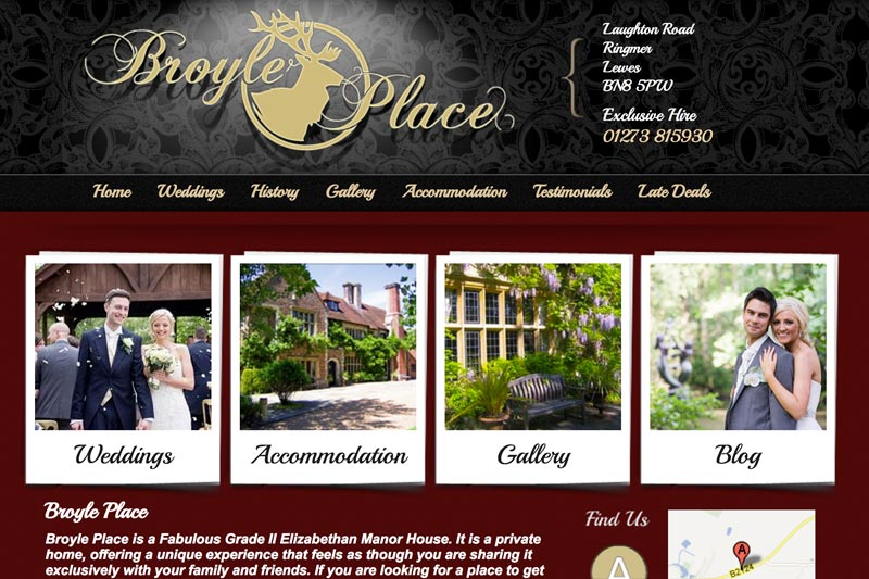 Broyle Place Wedding Venue link
