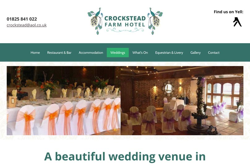 Crockstead Farm Hotel Wedding Venue link