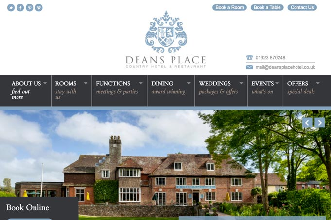 Deans Place Hotel Wedding Venue link