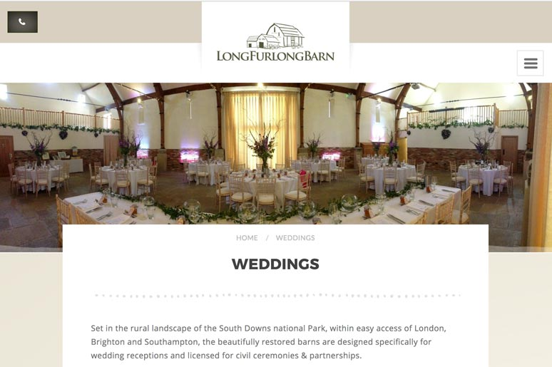 Long Furlong Barn Wedding Venue link