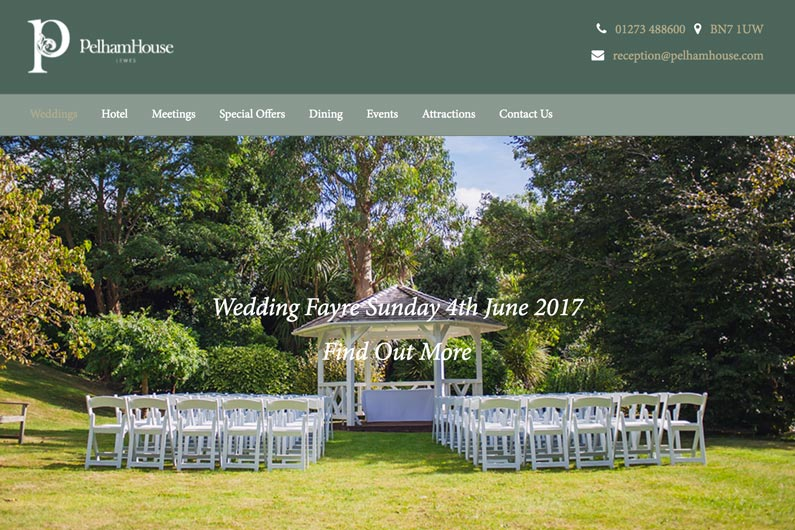Pelham House Wedding Venue link