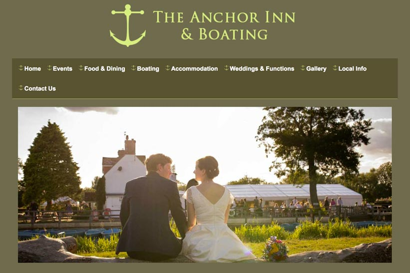 The Anchor Inn Wedding Venue link