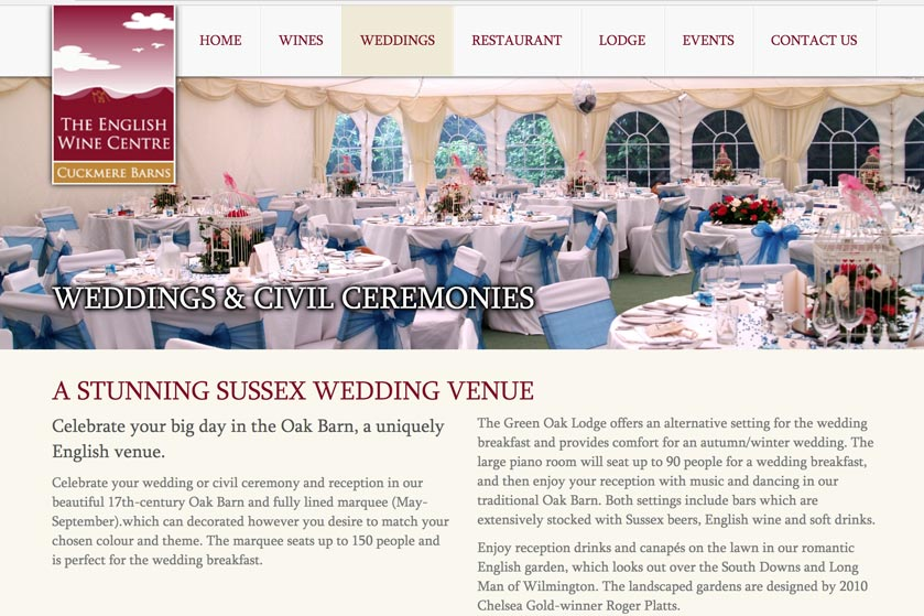 The English Wine Centre Wedding Venue link