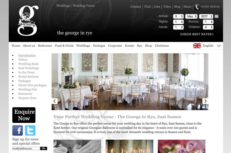 The George in Rye Wedding Venue link